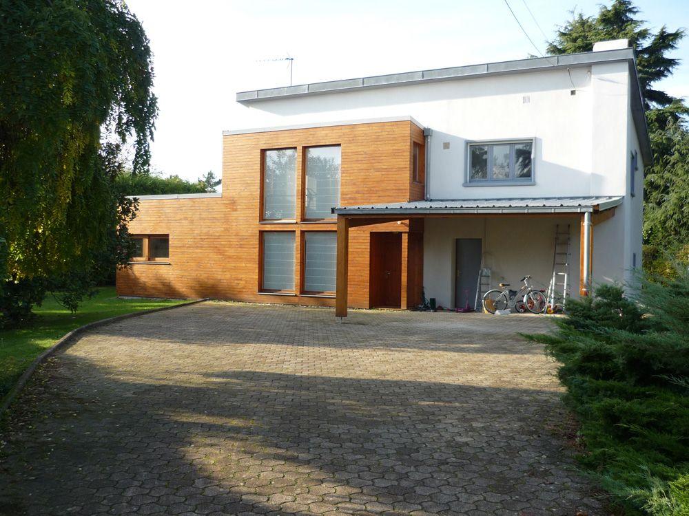extension-bois-maison-contemporaine Extension Pinterest