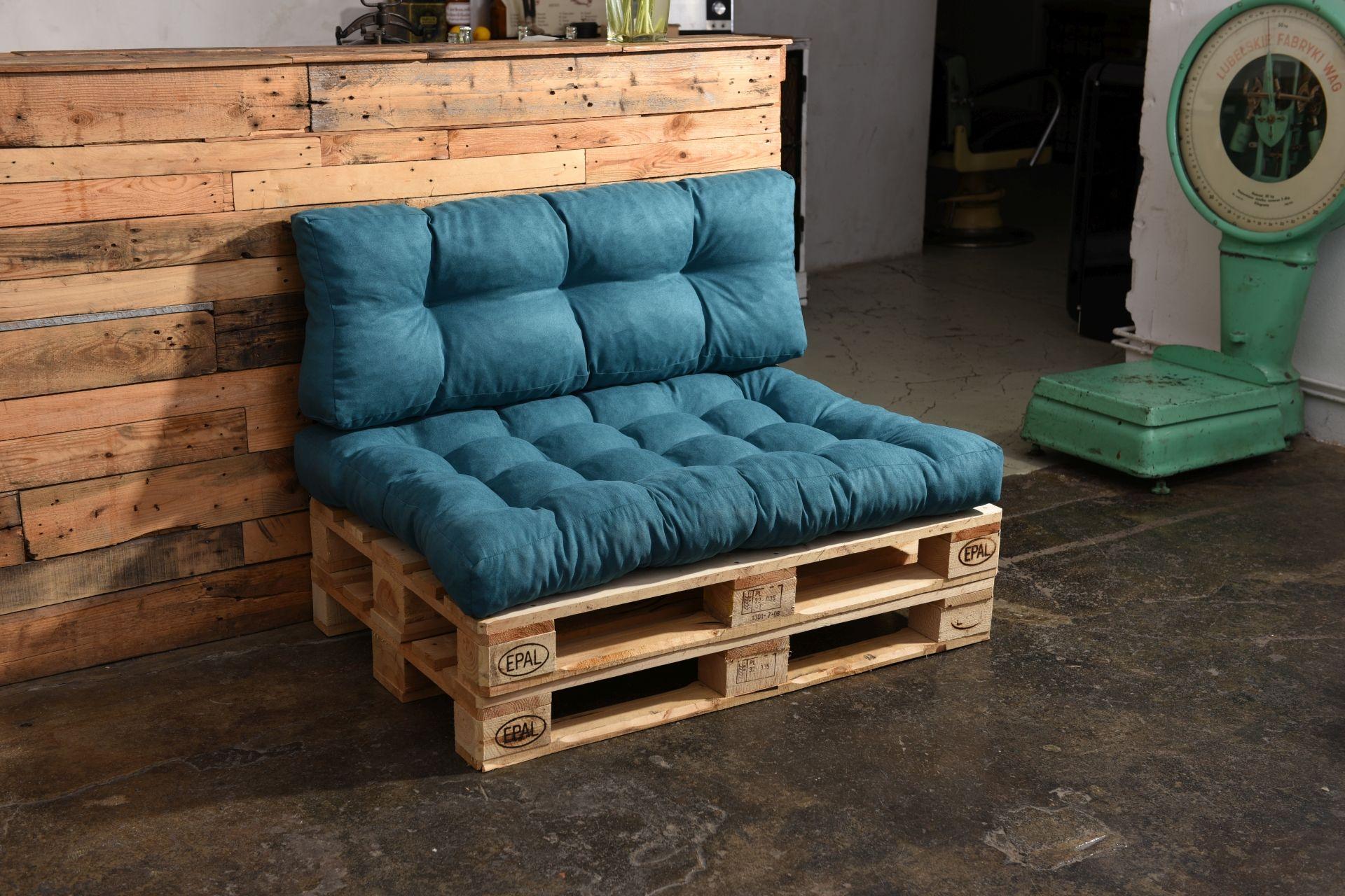 Palettenkissen In Azur Grün Palettenpolster Sofa