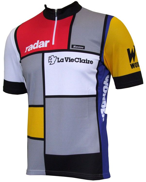 RADAR LA VIE CLAIRE Team Cycling Jersey Retro Road Pro Clothing MTB Short Sleeve