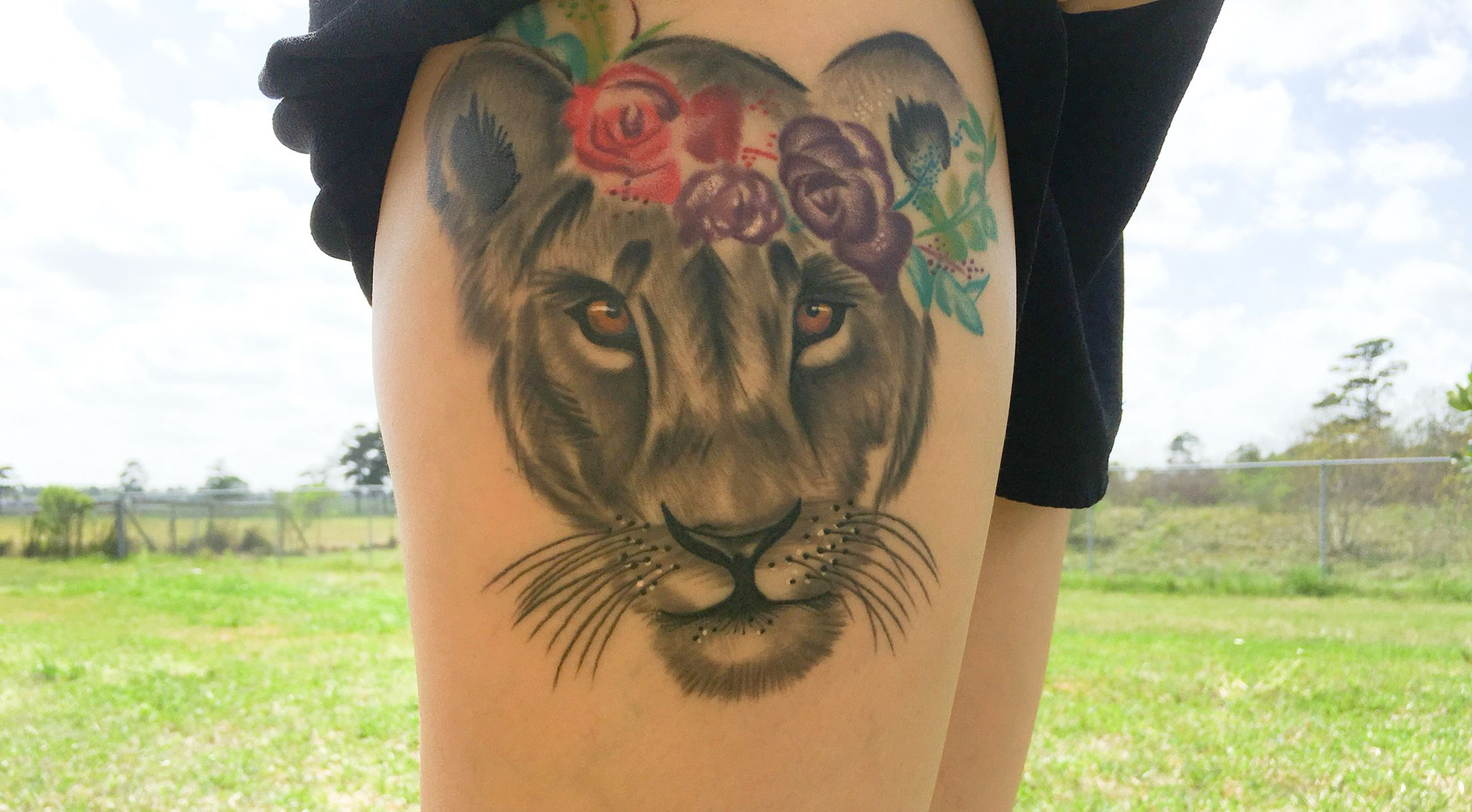 Lioness Tattoo Water Color Crown Artbymegs Lionesstattoo Lion Tattoo Girlytattoo Feminine Tattoo Queen Tattoo Lioness Tattoo Jewelry Tattoo Tattoos
