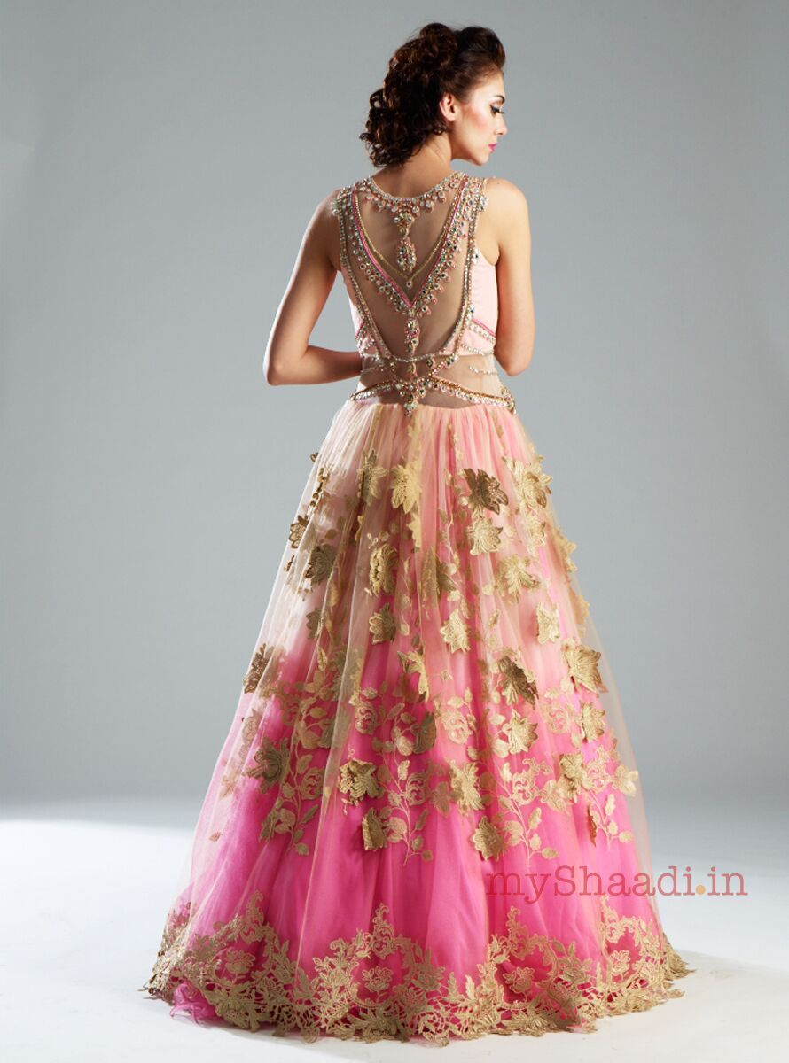 Wear to wedding dresses  back of dress  Reception  Pinterest  Indian bridal wear Indian