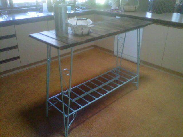 My Repurposed Kitchen Island Repurposed, Wrought iron and Kitchens