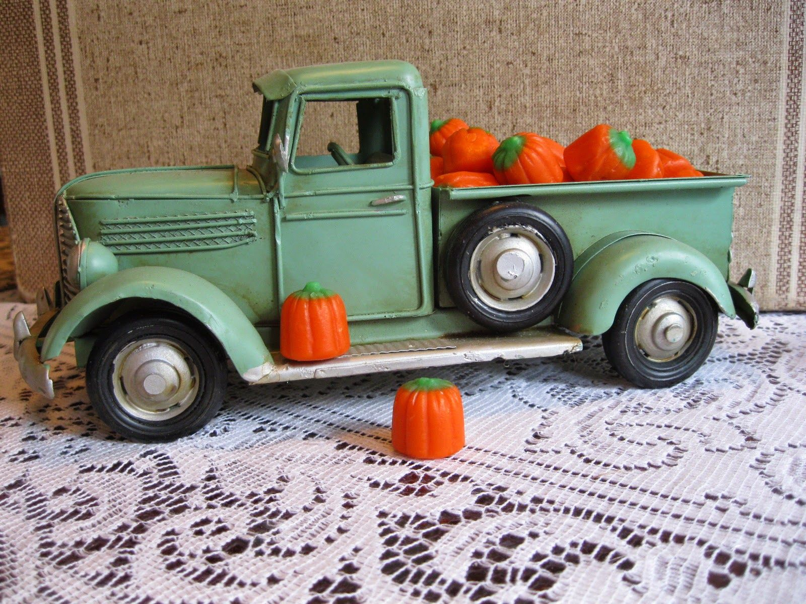 Candy Pumpkins In Toy Truck Holidays Fall And Halloween