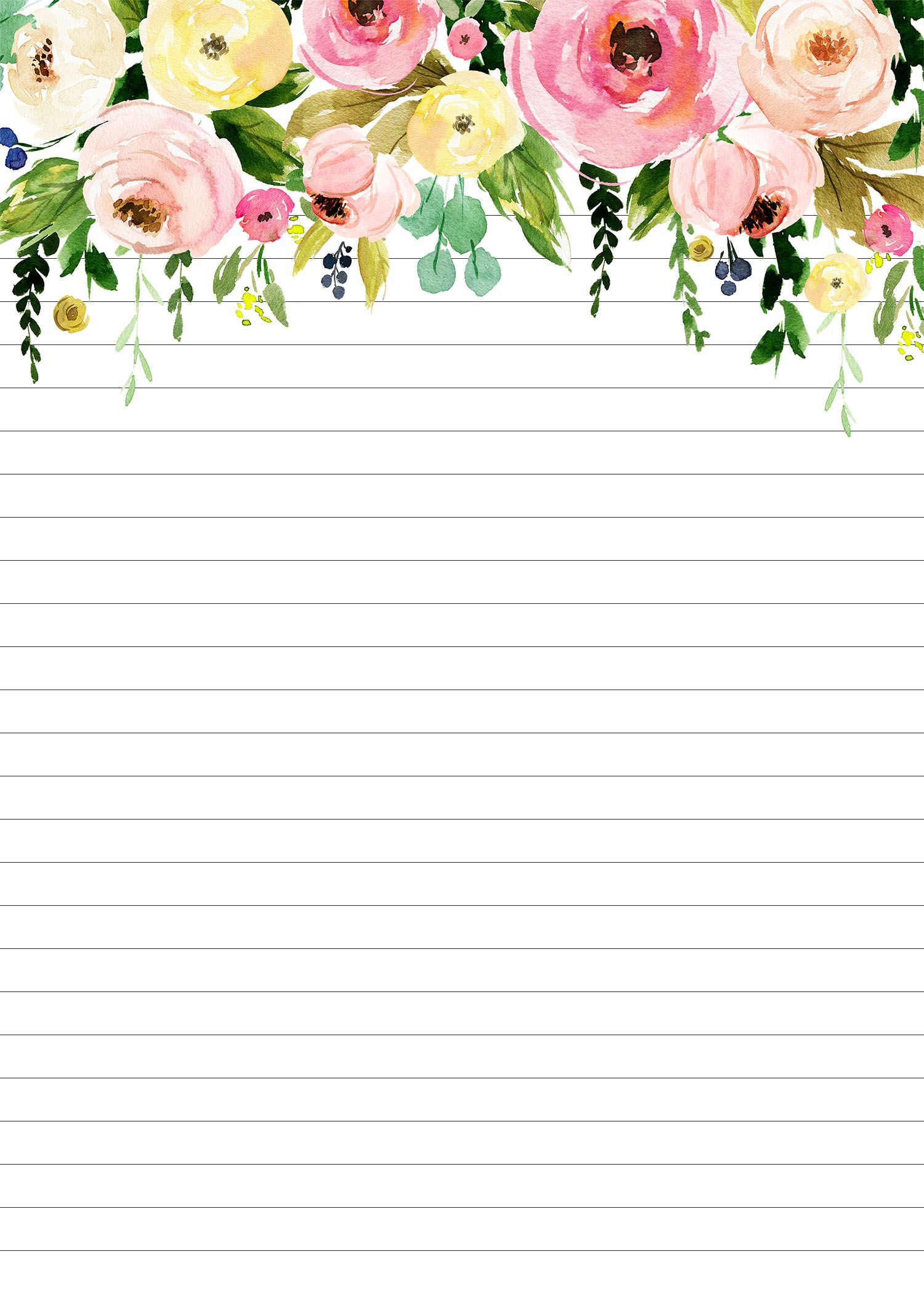 Free Printable 2019 5x7 Pretty Floral Calendar /// with ...