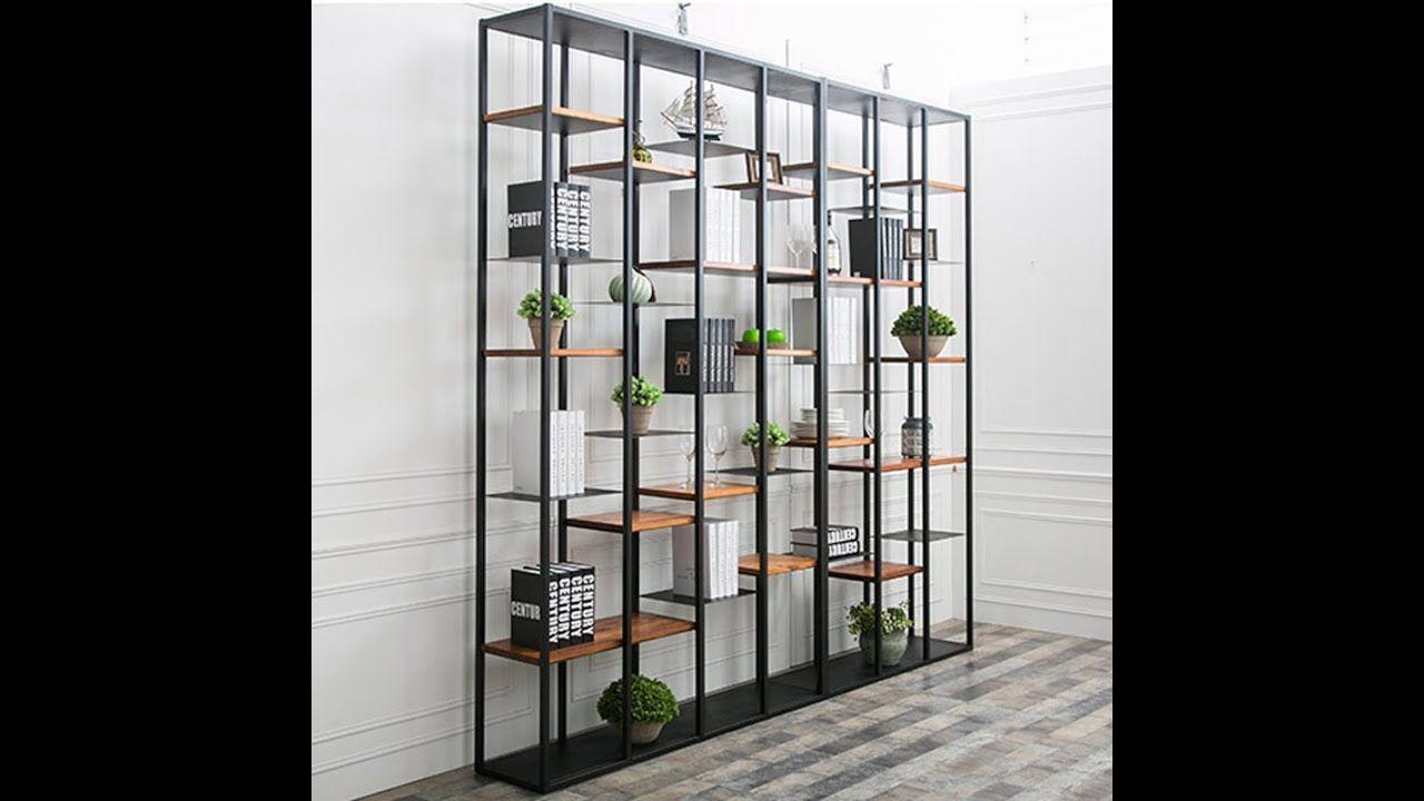 Simple Modern Iron Shelf Multi Storey Rack Storage Rack Living Room Partition Office Shelf Racks Shelves Book Iron Shelf Shelves Decorative Room Dividers #rack #for #living #room