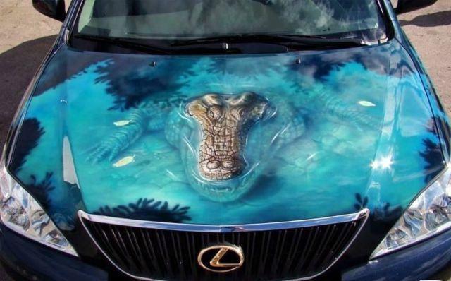 Custom Car Paint Jobs.3d Alligator Paint Job Cars Car Paint Jobs Custom Car