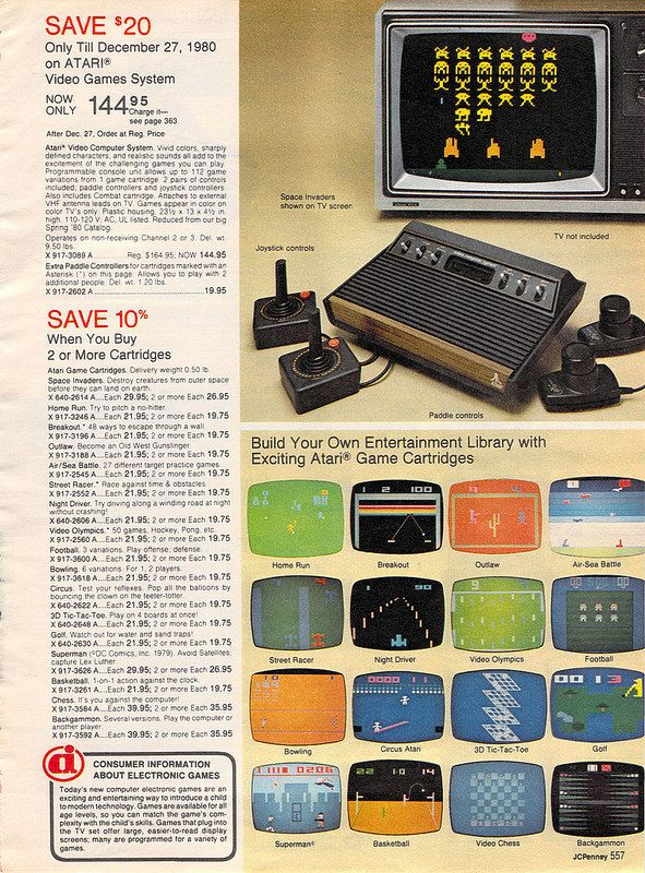 Atari Video Games System From The J C Penney Christmas Catalog