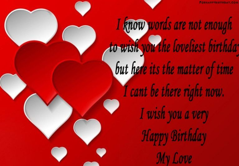 For Love Happy Birthday My Love Birthday Wishes For Lover