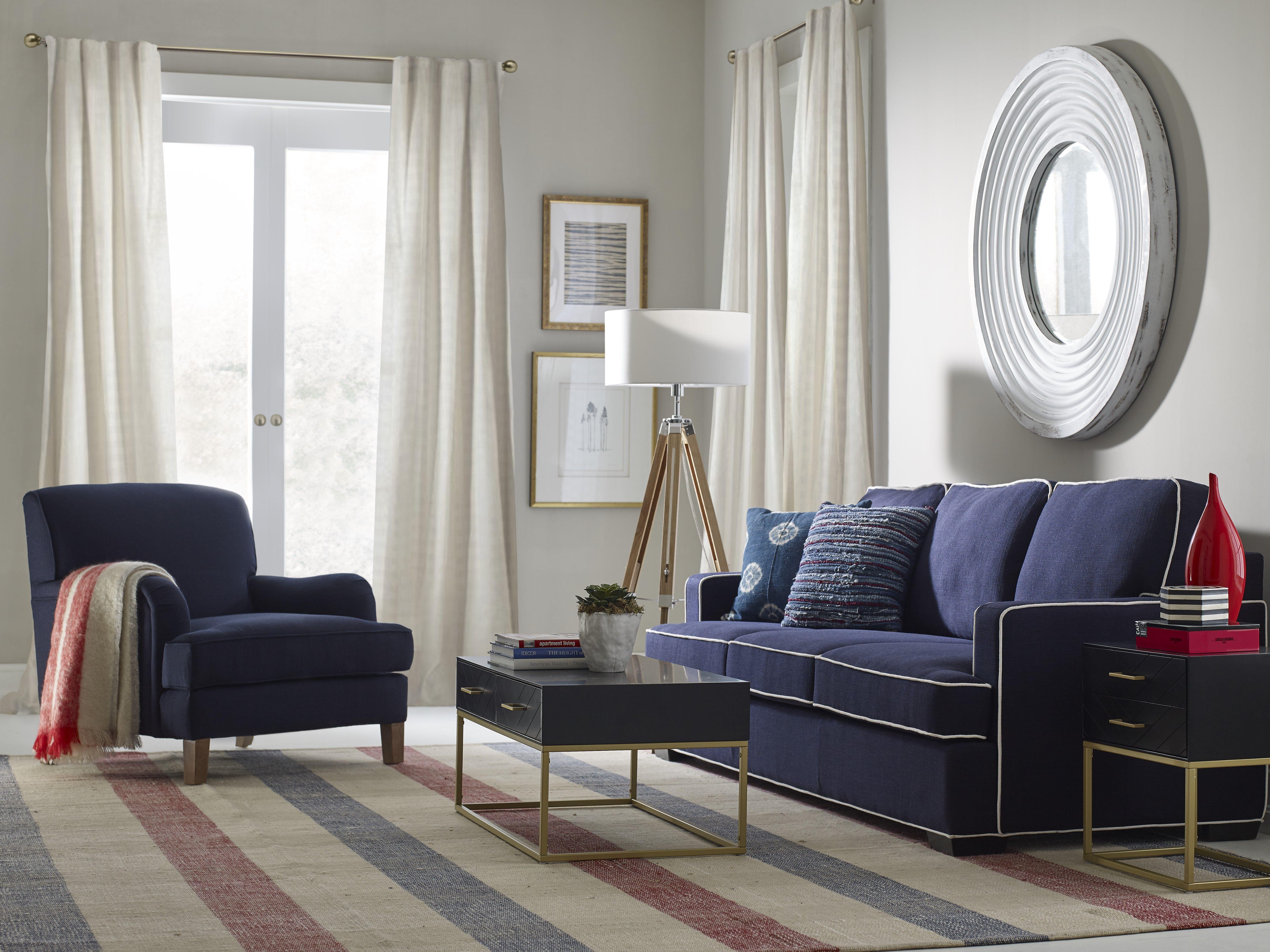 Cardiff 87 5 Recessed Arm Sofa Living Room Sets Furniture Mid Century Modern Loveseat