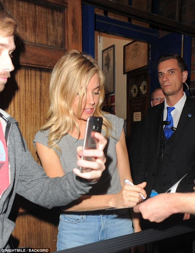 Sienna, was again overwhelmed with support as she left the Tuesday night  performance of Cat On A Hot Tin Roof in London, stopping to sign autographs  for her ...