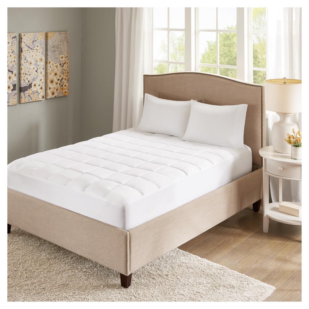 copper infused microfiber down alternative mattress pad full white