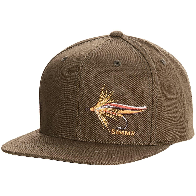 40cd68bd8df94 Simms Fly Fishing Twill Flat Brim Snapback Hat Cap Loden Color ...