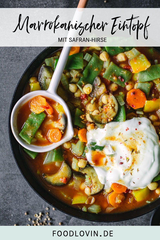 Marrokanischer Gemüseeintopf mit Safran-Hirse – Carey&CleanEatingS