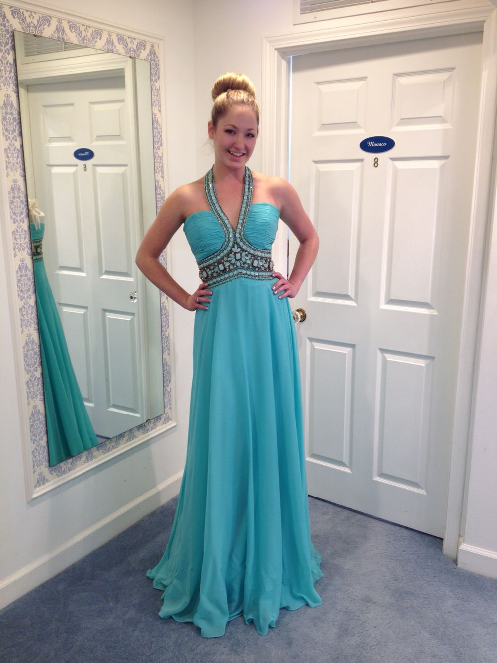Another new prom arrival kayla is modeling a beautiful turquoise