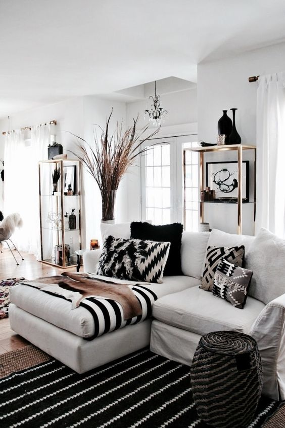 Modern Southwestern Global Living Room Design In A Neutral Color