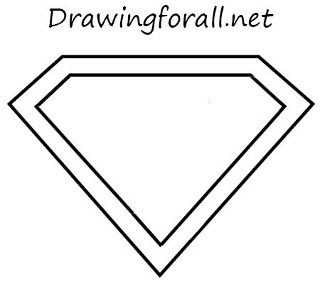 how to draw the superman logo with a pencil education