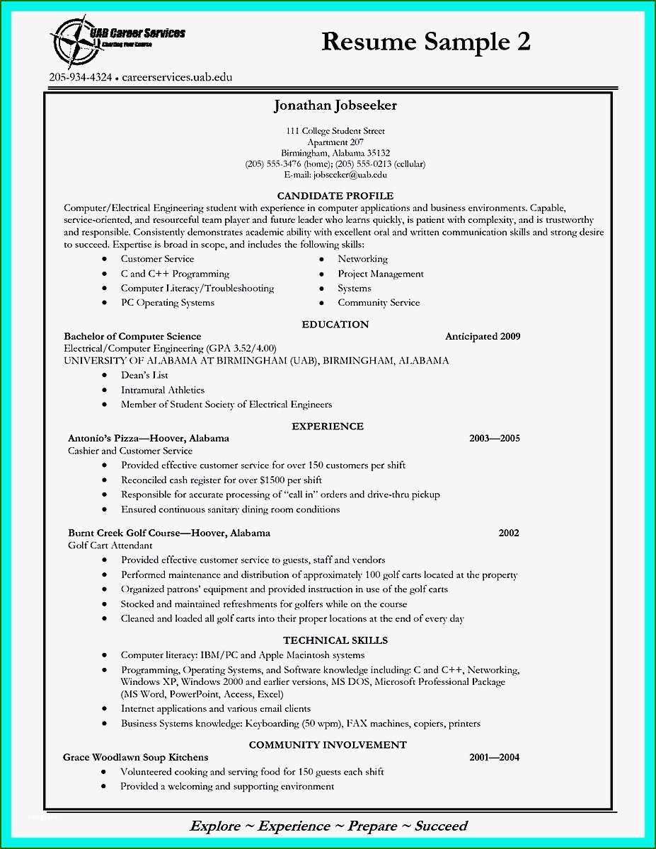 16 Skillful College Application Resume Template In 2020 in