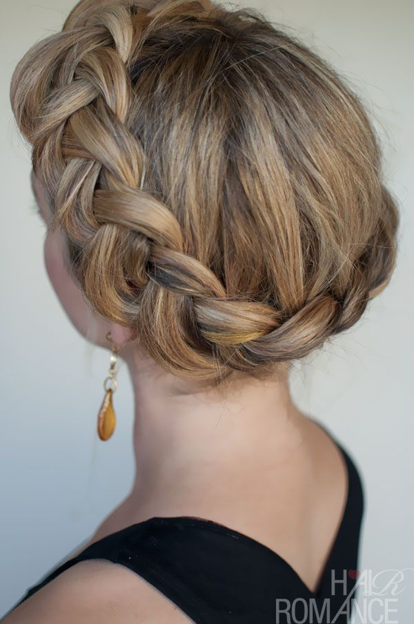 Dutch Crown Braid Simple Casual Dutch Braid Updo With Images