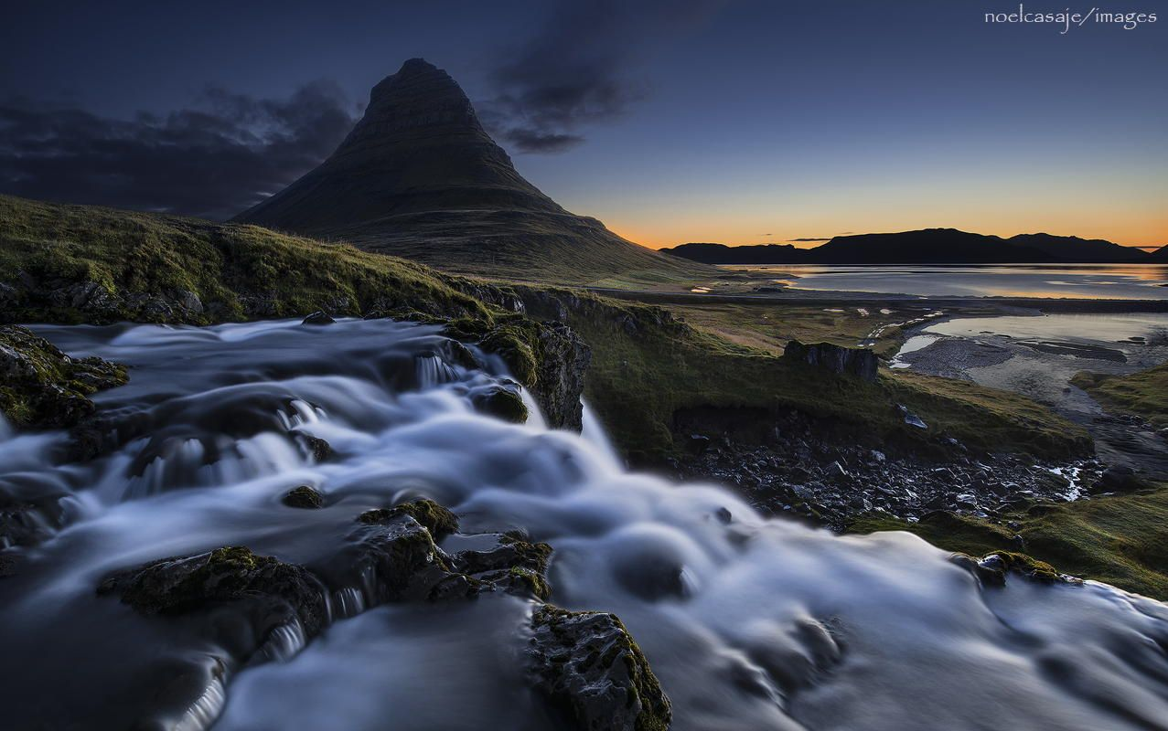""" ETHEREAL FLOW ""Kirkjufell-Grundarfjörður, Snaefellsnes by noel casaje"
