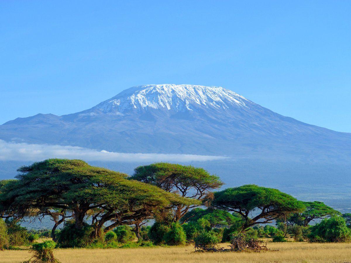 vrchol Kilimandžára v Tanzánii