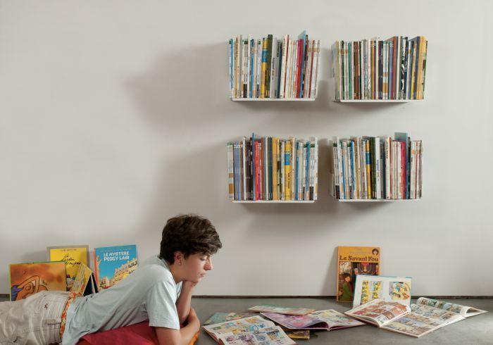 Etagere Pour Livre 45x25 Cm Lot De 4 Etagere Livres Mur De Bibliotheque Rangement Livre