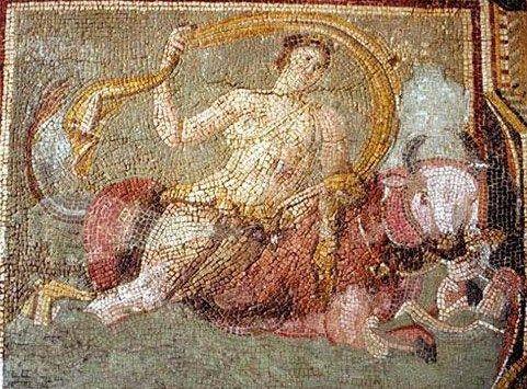 Floor Mosaic Of Europa And The Bull At The Antakya