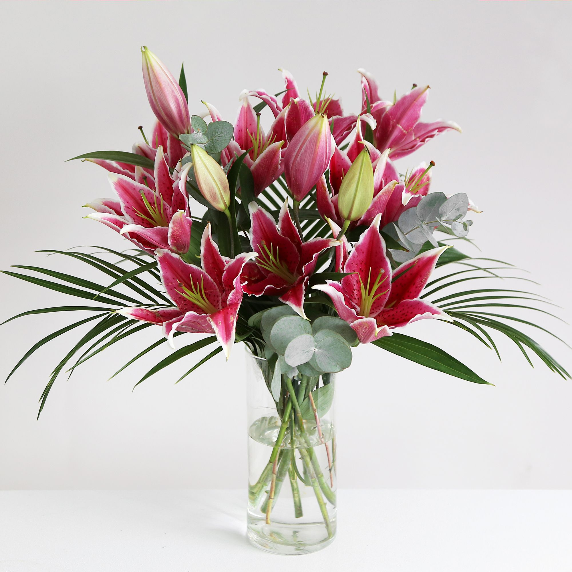 Pink Oriental Lilies This simple and elegant Asiatic lily