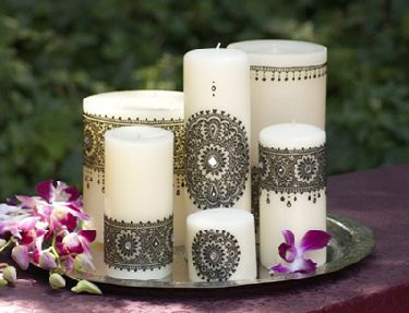 Mehndi Henna Candles : Hafsah s henna crafts candle
