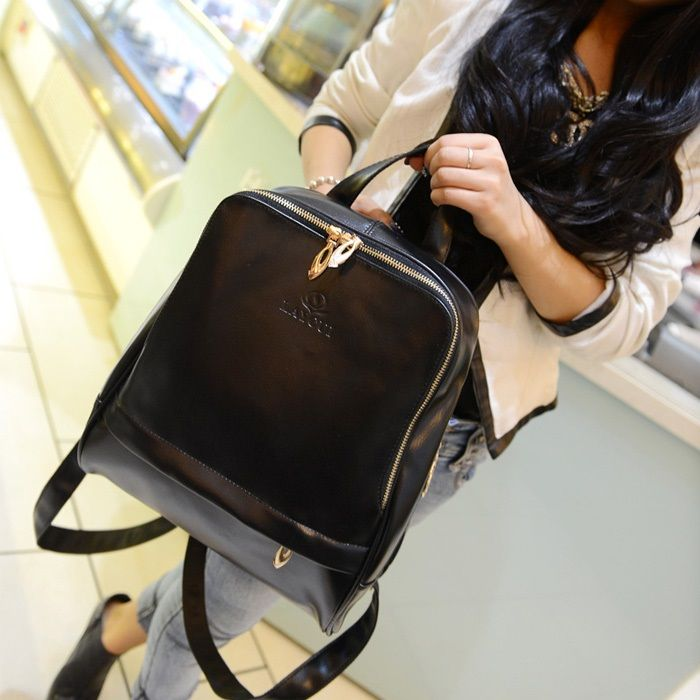 Backpack female Han Banchao 2014 new cute fashion PU cortical schoolbag retro Institute wind small backpack