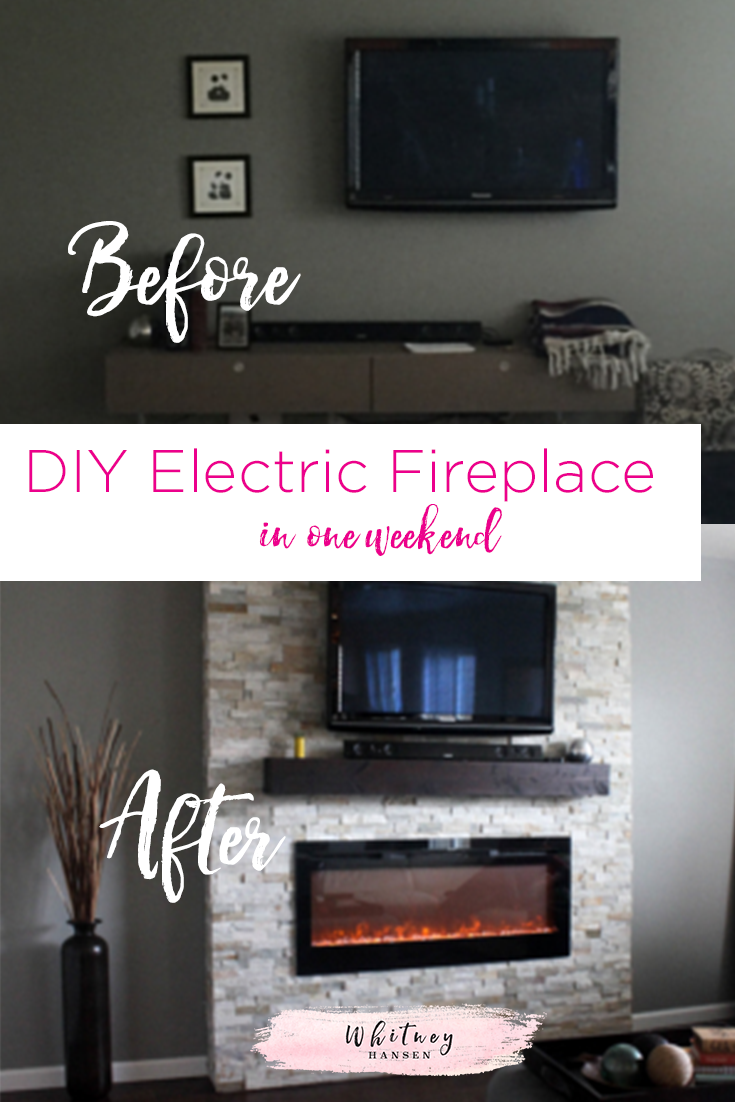 Meuble Accent Base De Lit Diy How To Build A Fireplace In One Weekend House Interior