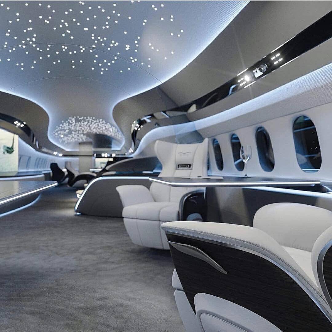 "LUXURY FREAK on Instagram: ""#Luxury_Freak kind of airplane"""