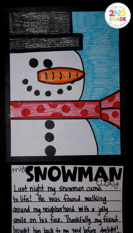 Winter Directed Drawing : winter, directed, drawing, Snowman, Directed, Drawing!, Classroom,, Winter, Writing,, First, Grade