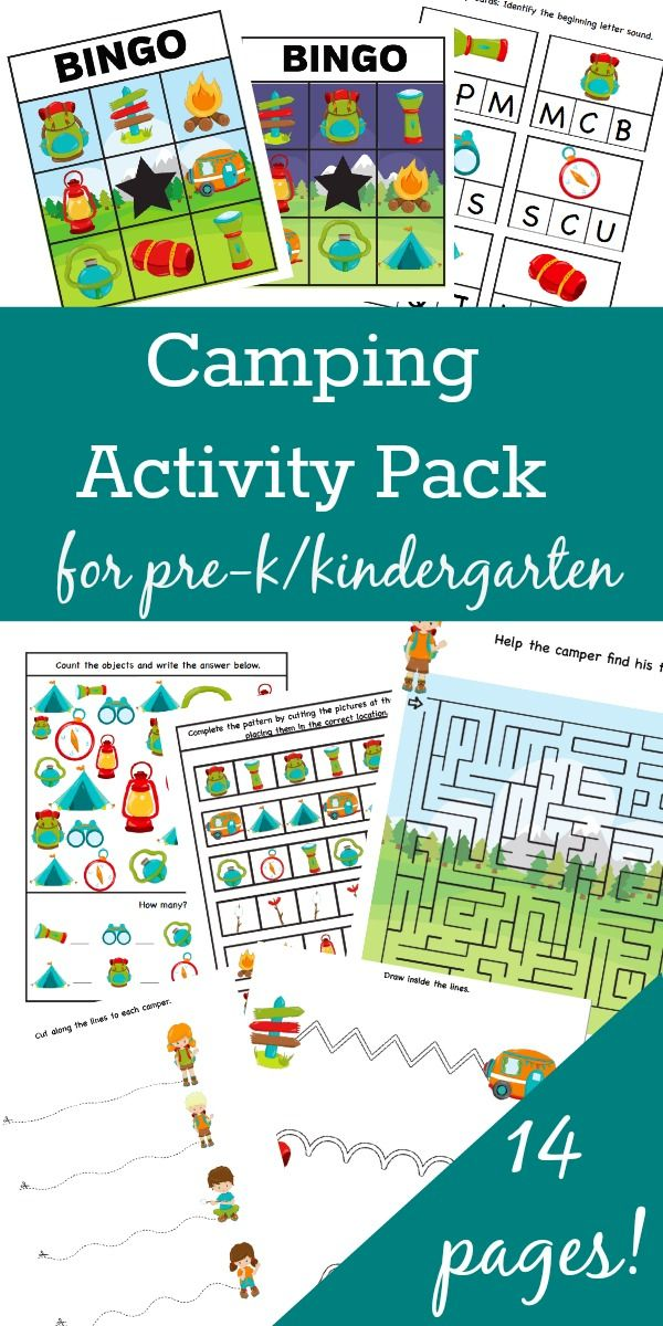 Camping-Themed Activity Pack | Pinterest | Kindergarten, Worksheets ...