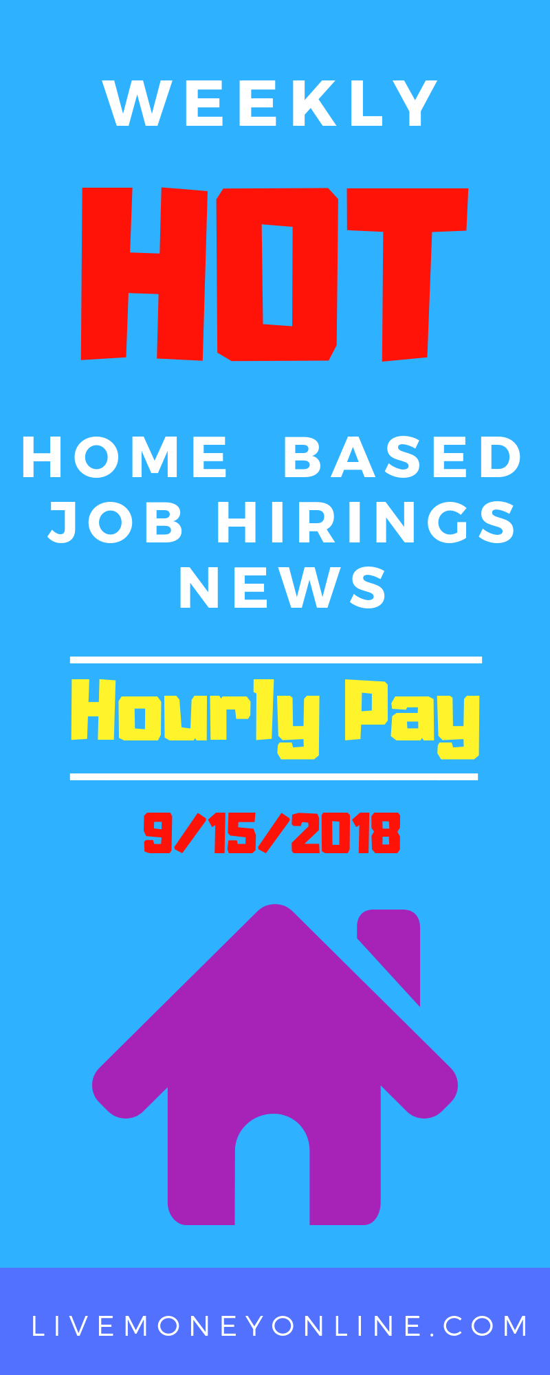 Weekly HOT Remote Job Hirings 9/15/2018 Work from home