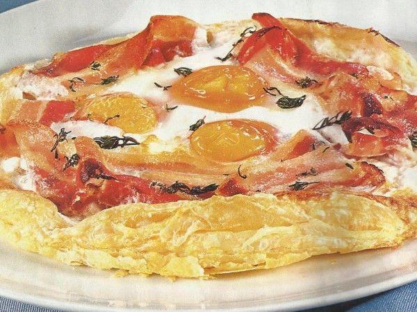 Folhado de Ovos com Bacon