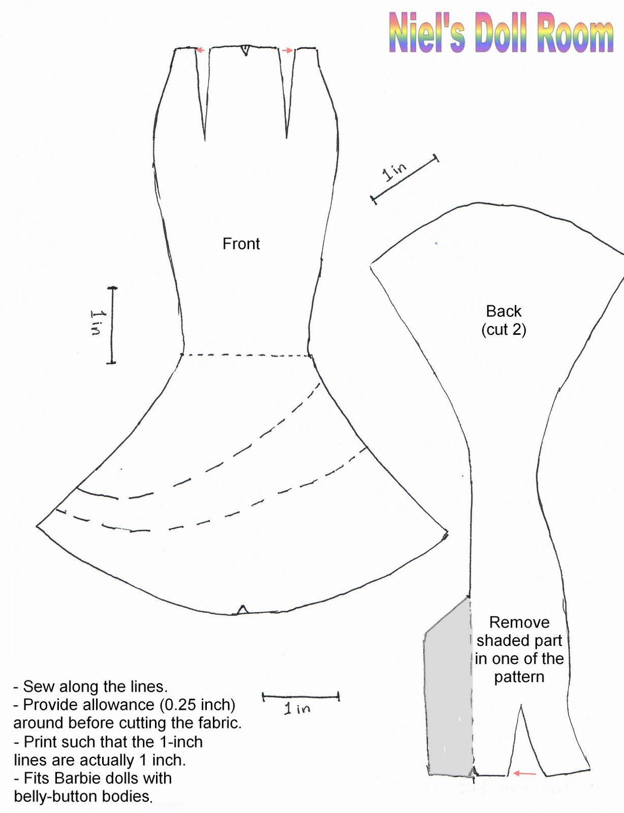 Easy Mermaid Patterns   Barbie sewing patterns Index of /   Things ...