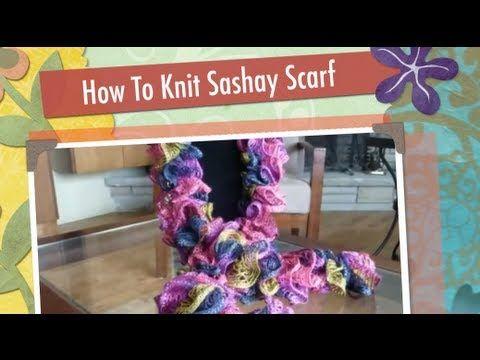 Easy Knitted Ruffled Scarf With Sashay Yarn Sashay Scarf Scarves