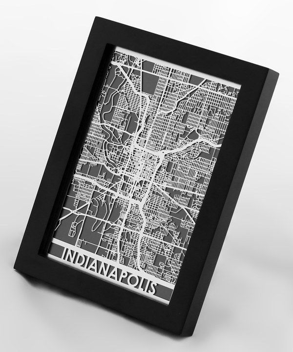 Look at this Stainless Steel Indianapolis Map Framed Wall Art on ...