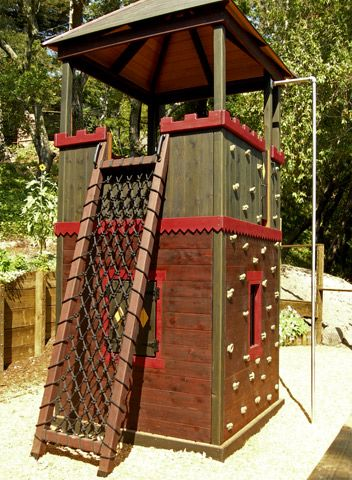 Unique Backyard Play Structures barbara butler-extraordinary play structures for kids-the fortress