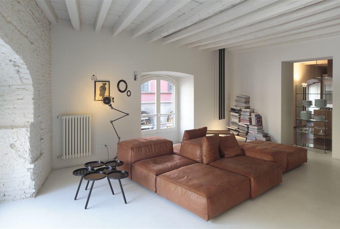 Comfy Floor Seating Living Divani Exhibition At Boffi Via Solferino Extrasoft Modular