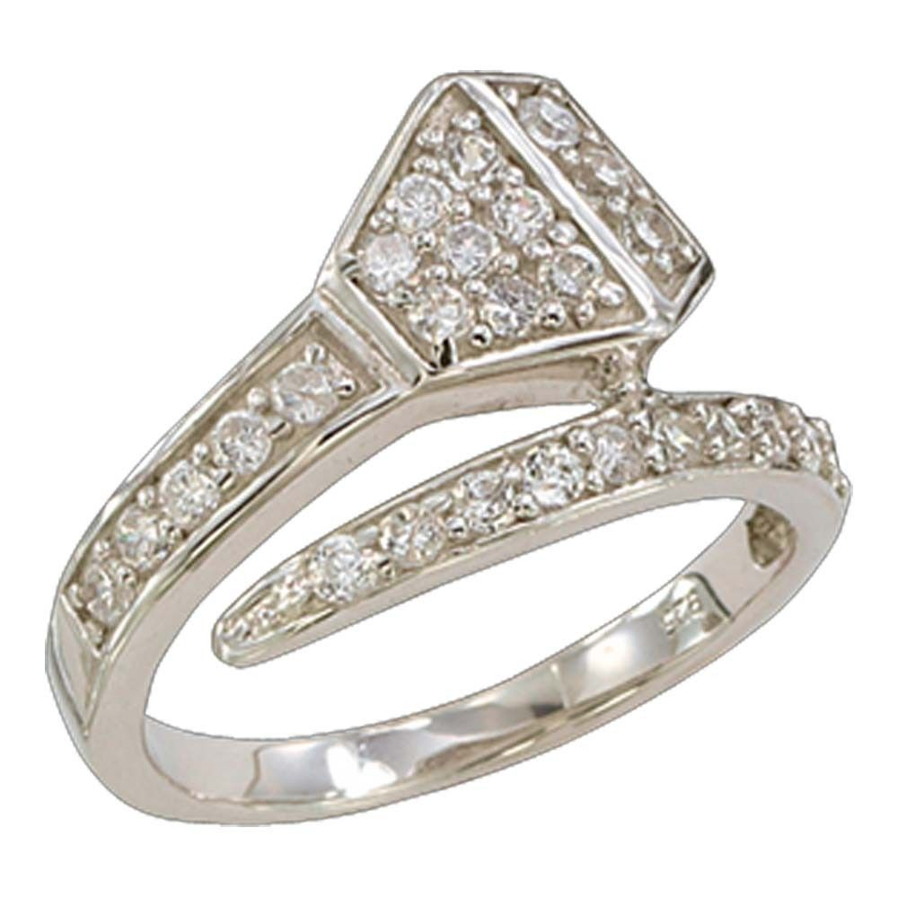 Size 9 Wrapped Horseshoe Nail Crystal Ring RG612479 Jewelry