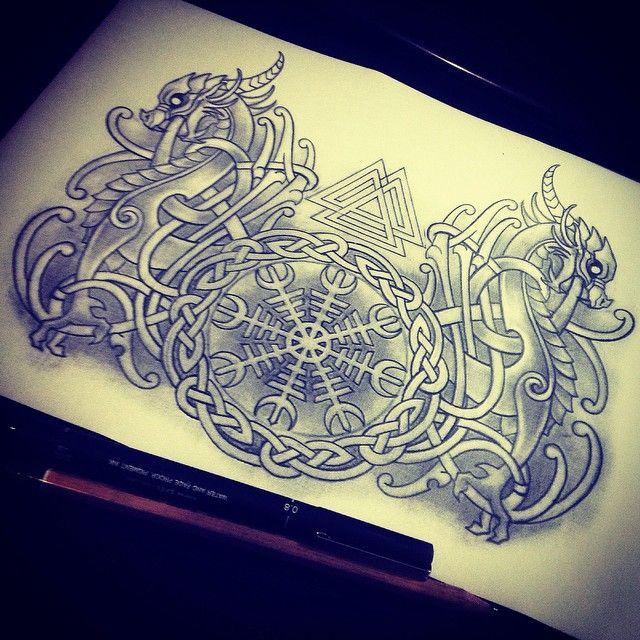 viking tattoo tatouages vikings pinte. Black Bedroom Furniture Sets. Home Design Ideas
