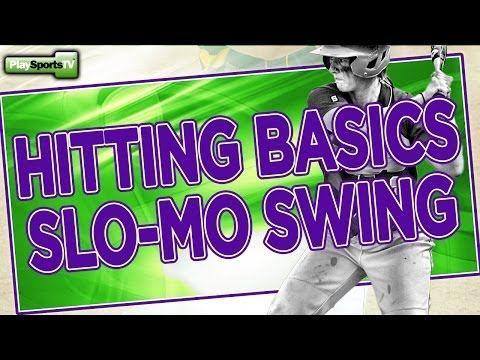 ▶ Softball Hitting Basics: Slo-Mo Swing - YouTube