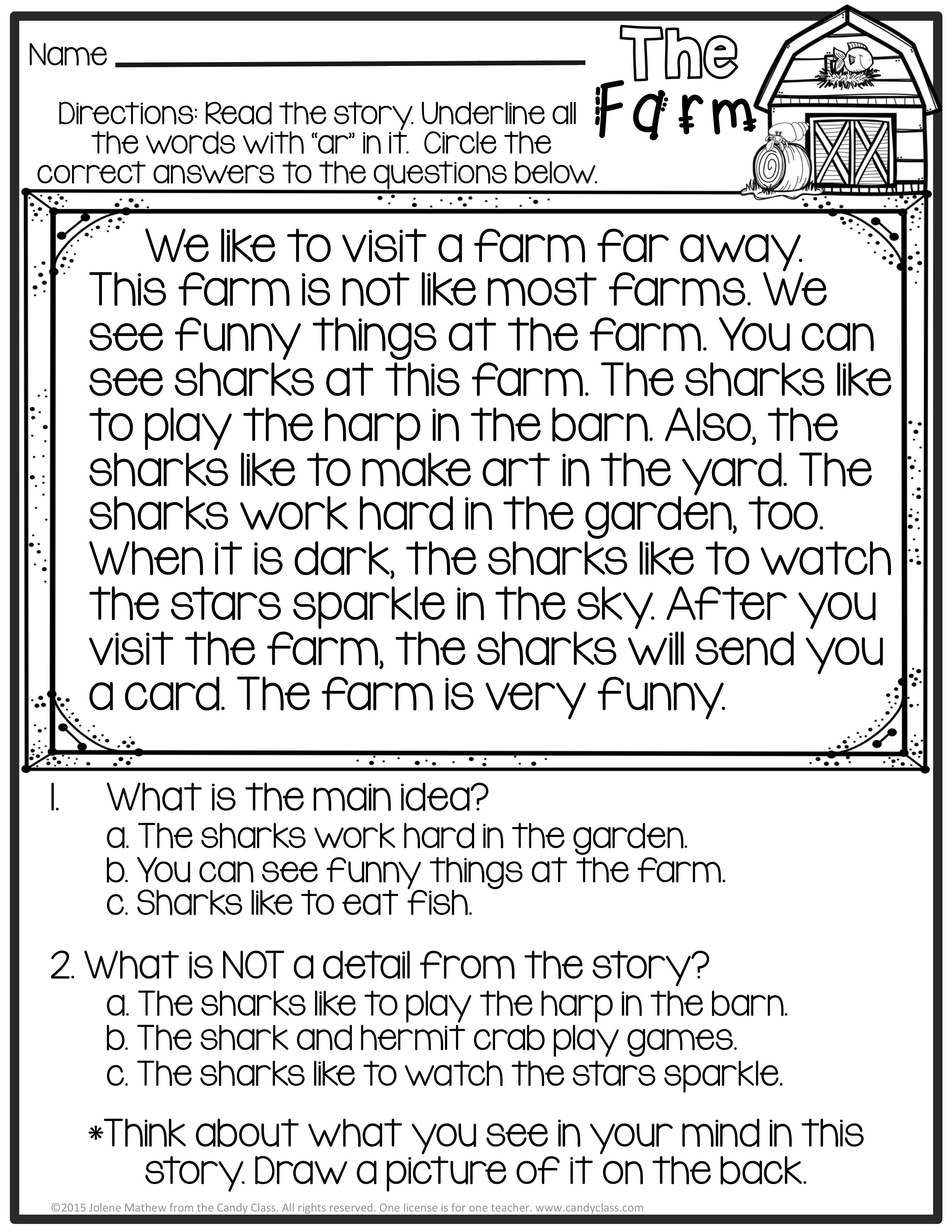 Bossy R No Prep Activities Phonics Worksheets 2nd Grade Morning Work Activities Reading Comprehension Passages Phonics Reading Reading Passages [ 3850 x 2975 Pixel ]