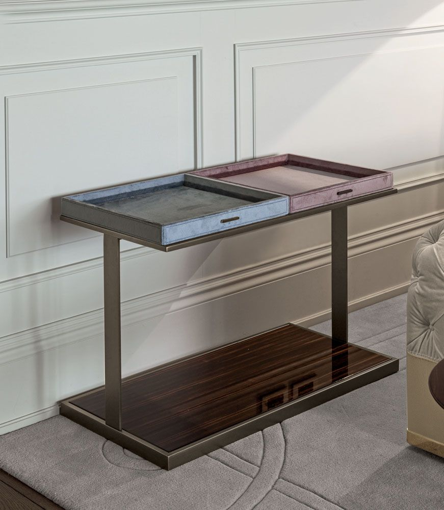 Louis Aux. Table, Glamour Living Room Design at Cassoni.com http://on.fb.me/1OJl8TZ
