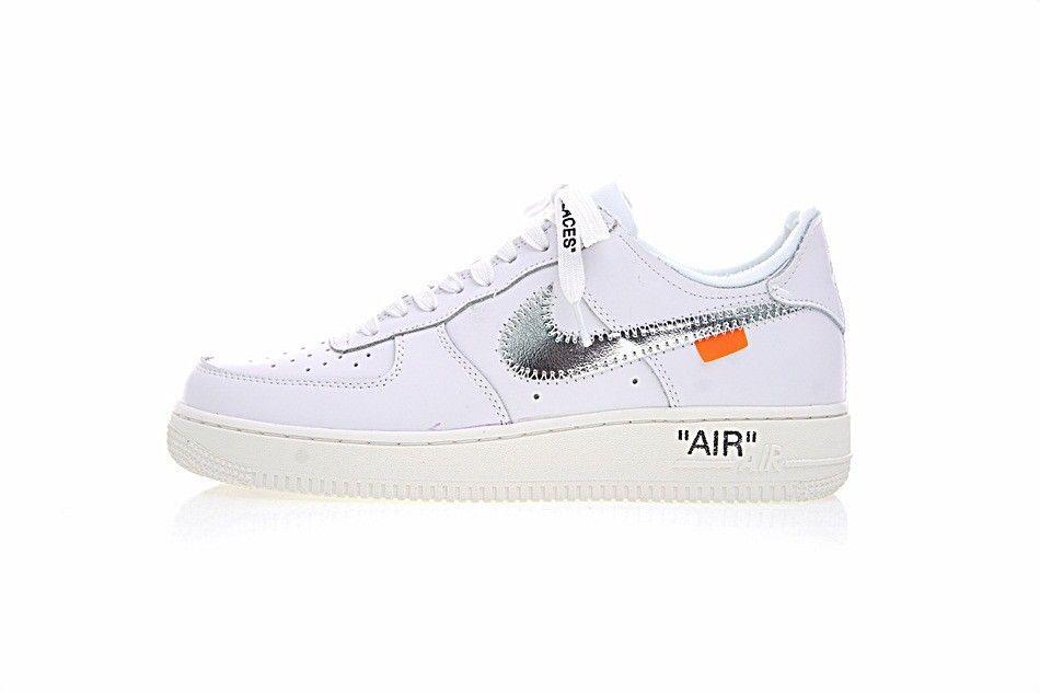 2adbd059fcc8 Off White x Nike Air Force 1 Low Classice White Silver Logo AO4297 ...