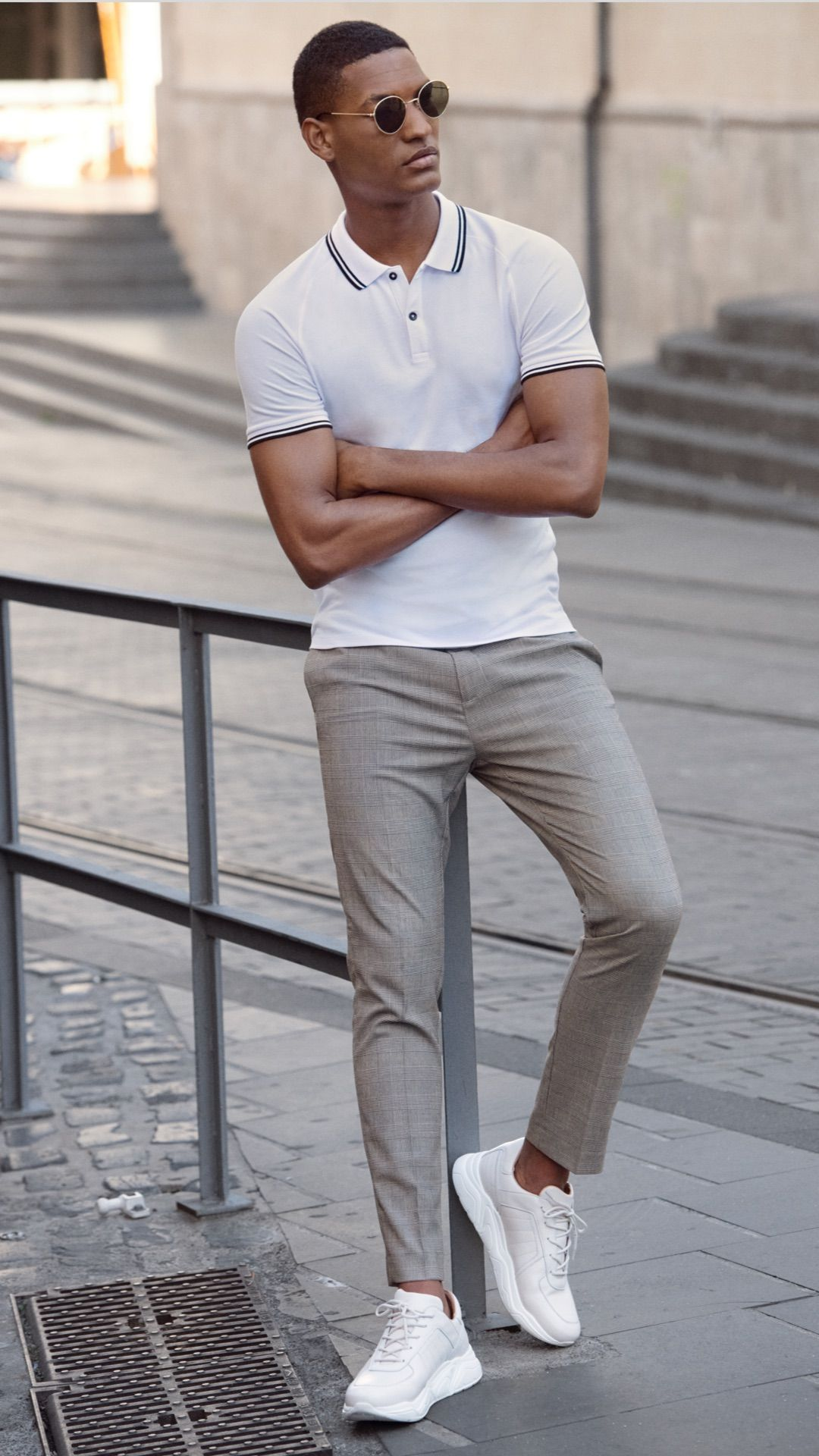 A Classic Polo Shirt Is Forever And It Looks Just As Good Dressed Up As It Does Dressed Down See Our Range O Polo Shirt Outfits Mens Outfits Shirt Outfit Men