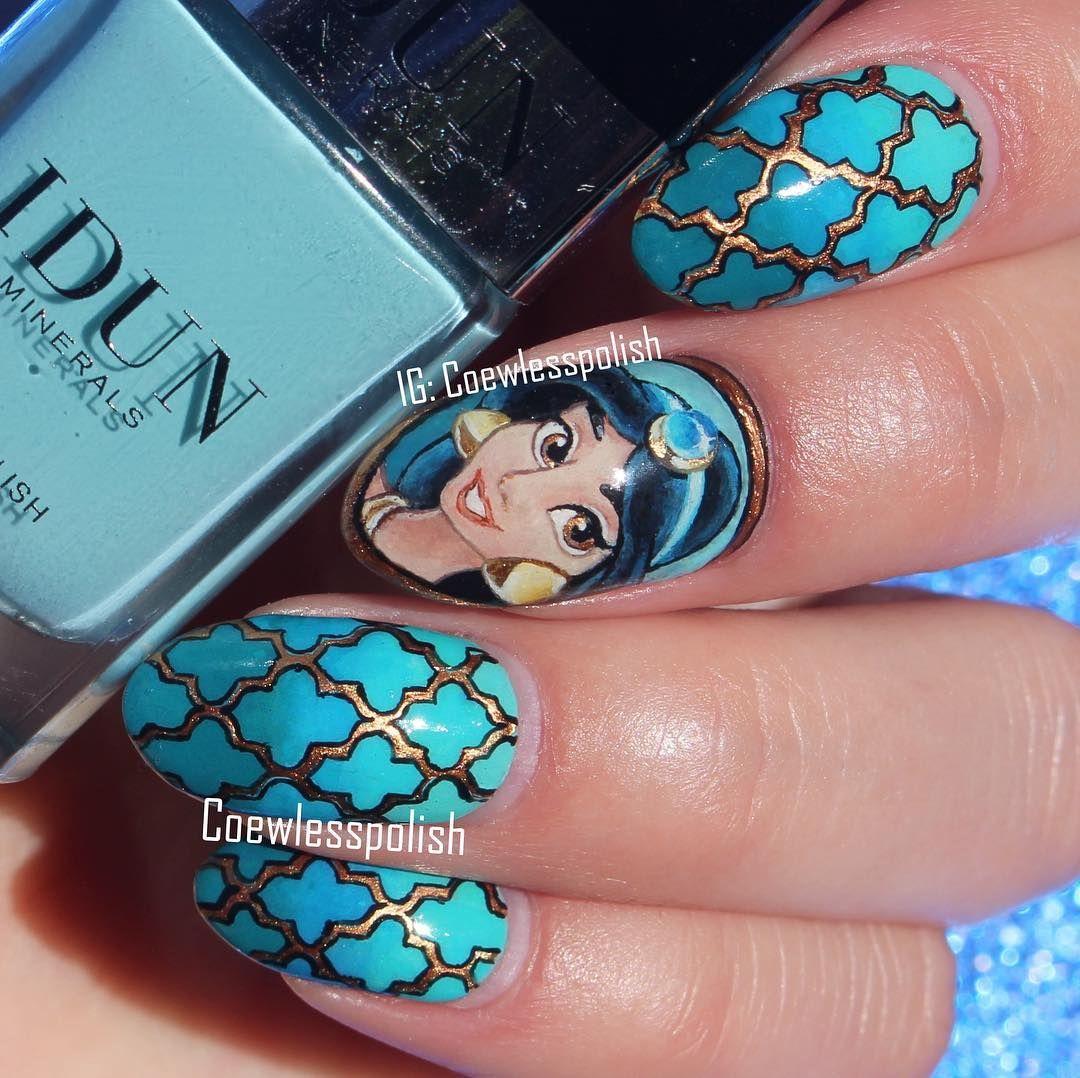 Princess Jasmine Nail Art