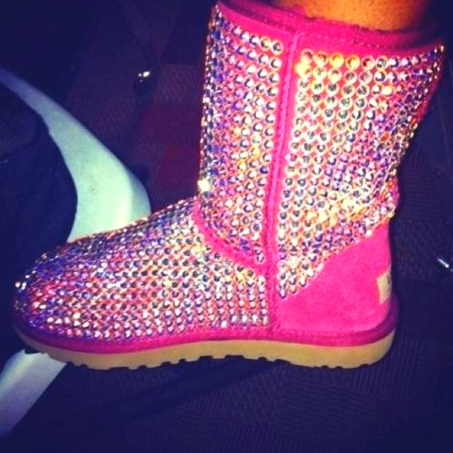 Pink sparkly uggs! My husband would