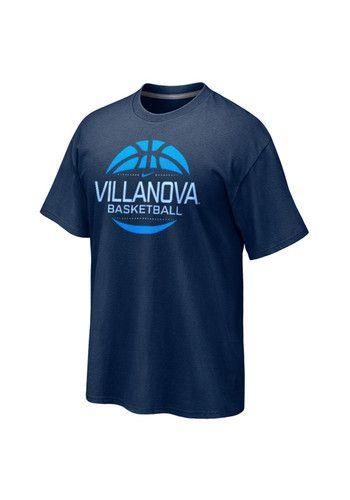 d7229bfc Nike Villanova Wildcats Navy Blue Basketball Short Sleeve T Shirt ...